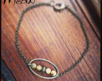 """The series """"Talisman"""" Leopard skin Jasper bracelet"""