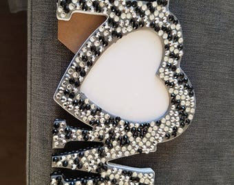Embellished/gem love & home frames