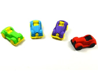 Erasers Vintage Car Vehicles Mini Eraser Creative Stationery School Supplies Cute Style Funny Clear Kid Gift Blue Purple Green Red