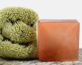 Fresh Linen Scent, Glycerin Copper Soap, Shimmer Soap, Palm Free Soap, Fresh Linen Soap, Handmade Soap,  Soap Bar, Bronze Shimmer Bar Soap