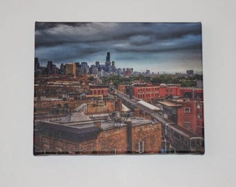 Chicago El Train Painted Photography