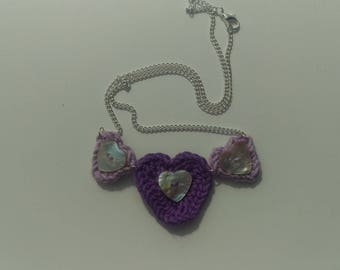 Heart bunting necklace