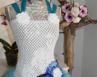 long tulle ceremony dress girl