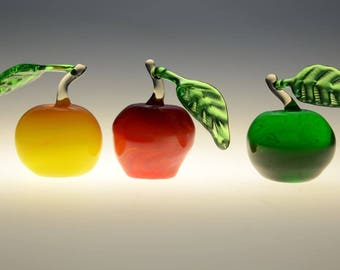 Glass handmade apple