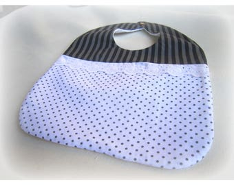 Bib with snap button closure
