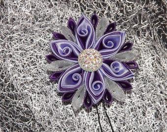 Purple and purple wedding hair