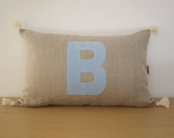 """Pillow cover decorative """"Dalilafee"""", """"Alphabet"""" Collection"""