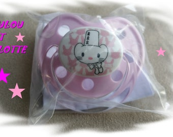 Pink Lollipop, drawing little ermine pink silicone