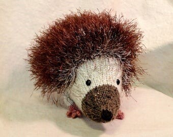 Hercules the Hedgehog, Handknit stuffed toy