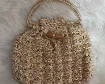Vintage Straw Woven Handbag