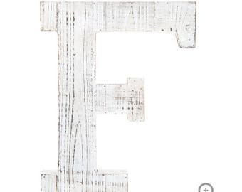 White Washed Wood Letters A-Z