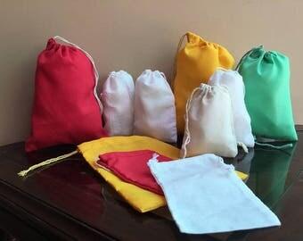 "3""x5"" Cotton Single Drawstring Muslin Bags"