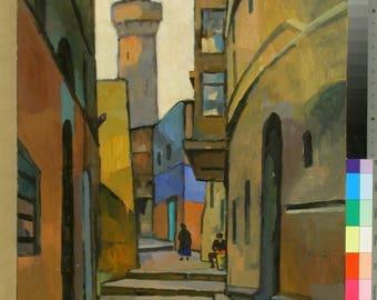 """Georgiy Khrapak print of artwork  """"Baku"""" of famous russian artist Georgiy Khrapak (1922 -1974) 60X80"""
