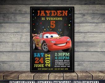 Car Invitation,Car Birthday,Car Birthday Invitation,Car Party,Car Birthday Party,Car Editable,Invitation Editable-SL28