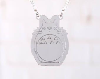 Totoro laser cut necklace