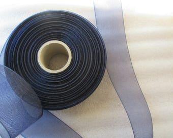 4.5 cm for wedding or christening blue tulle