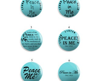 LDS Young Women's Peace in Me Button Pins, Magnet, or Key chain | LDS Young Women's 2018 Theme