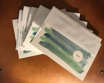 "6 pack ""Give""  (Blank Cards) Watercolor Prints 5x7"