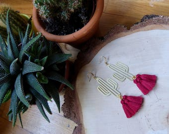 CACTUS - pink Strawberry earrings