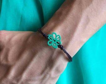 Floral summer bracelet