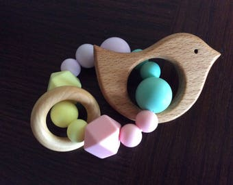 Baby bird teething toy