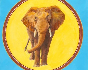 Elephant Totem Archival Giclée Prints on Canvas and Fine Art Paper