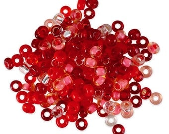 10 gr assortment squash ⌀ 2.3 mm 10/0 red mix seed beads