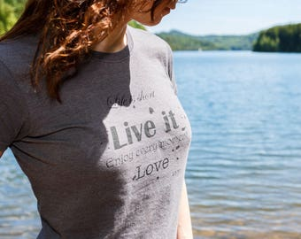 Tshirt organic cotton and recycled plastic bottles