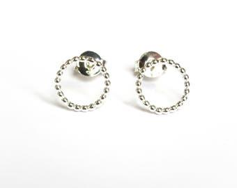 Delicate Pearl ear studs Around wire (E1605)