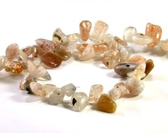 """baroque """"Ts"""" lepidochrocite beading wire, natural stone"""