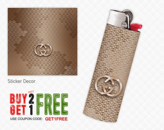Lighter Stickers for Standard BIC Lighter Size, GUCCI Logo, Wraps, Skin, Cover