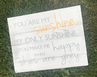 You Are My Sunshine My Only Sunshine Home Bedroom Wall Decor