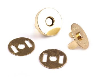 1 15mm gold magnetic button