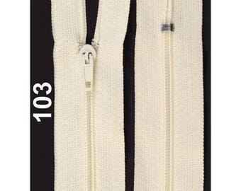 ecru nylon closure size 10 cm