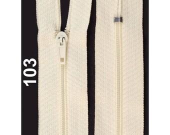 ecru nylon closure size 12 cm