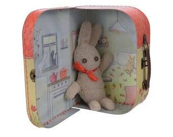 Lapin de Pâques / Kit couture enfant / Valise de créativité couture Lapin / Kit créatif DIY pour coudre un lapin