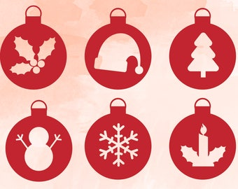 Christmas ornament svg bundle |Christmas SVG Cut files | Ornaments Svg | Winter Svg | Ornament clipart | Christmas SVG | xmas svg, ornaments
