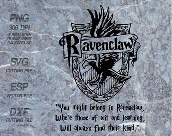 Ravenclaw home logo slogan Hogwarts home  Harry Potter Quote ,SVG,Clipart,esp,dxf,png 300 dpi