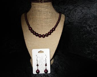 Necklace and earrings and bracelet set