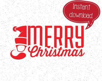 Hipster Santa SVG, Santa Claus SVG, Merry Christmas svg, Christmas SVG, Christmas SVGs, SVGs, Cricut Cut File, Silhouette File, Cuttables