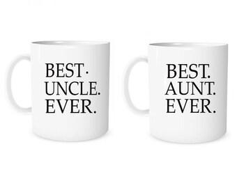 Custom Mug Personalized Mug Best Uncle Ever Best Aunt Ever Coffee Mug Uncle Mug Personalized Gift Mug Aunt Mug Anniversary Mug Wedding Mug