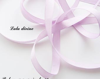 Ribbon 10 mm, sold in 2 meters grosgrain: light purple