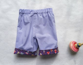 Baby girl with Japanese cotton Capri pants