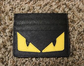 Cardholder wallet organizer custom made Monster Eyes