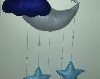 Baby mobile moon and stars