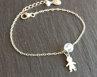 Bracelet birthstone boy or girl with the stone of the month of June Moonstone