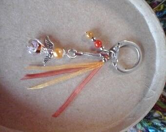 Customizable color Angel keychain