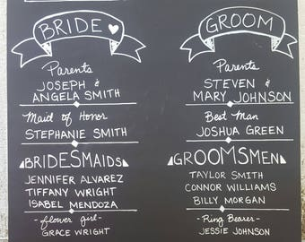 Wedding Program Board