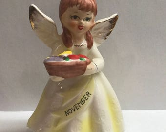 Vintage November Birthday Angel