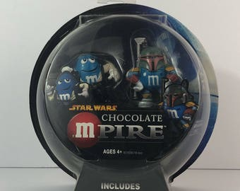 Vintage Star Wars M&M Mpire Special Collectors Edition Han Solo and Boba Fett Action Figures Sealed